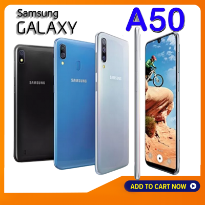 SAMSUNG GALAXY A50 128GB ราคาขายโทรศัพท์ซัมซุงล่าสุด สินค้าราคาปกติ 8,990-.